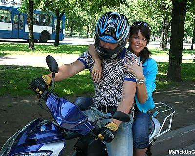 Public sex on a bike